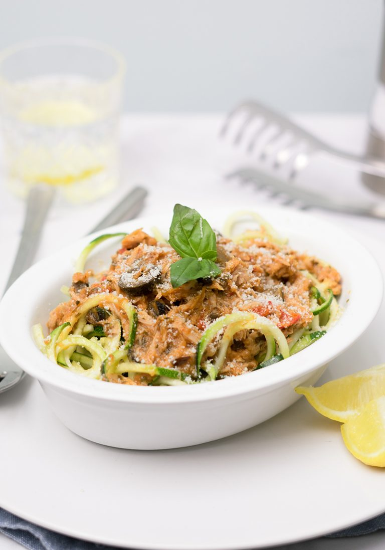 Mediterranean Tuna with Courgetti